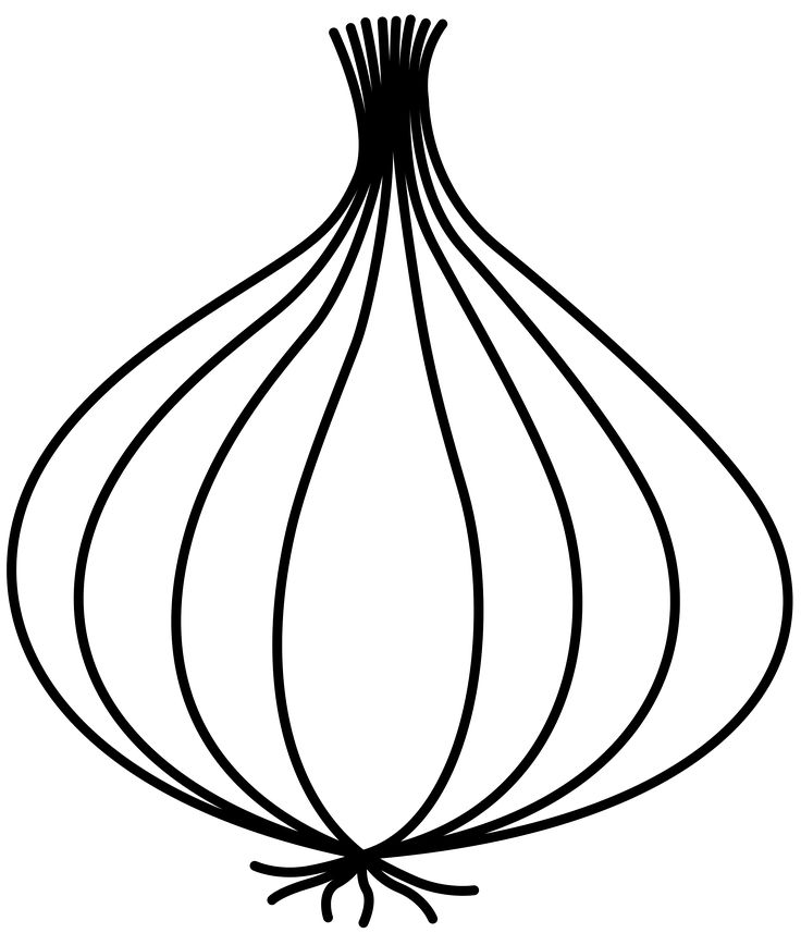 Onion Clipart Black And White | Free download on ClipArtMag