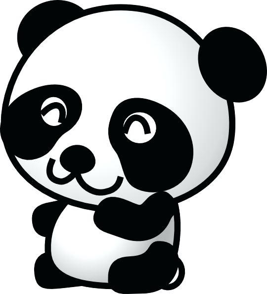 540x593 Clipart Online Panda Cartoon Panda 7 Clip Art Vector Clip Art