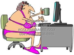300x226 Illustration Online Chat
