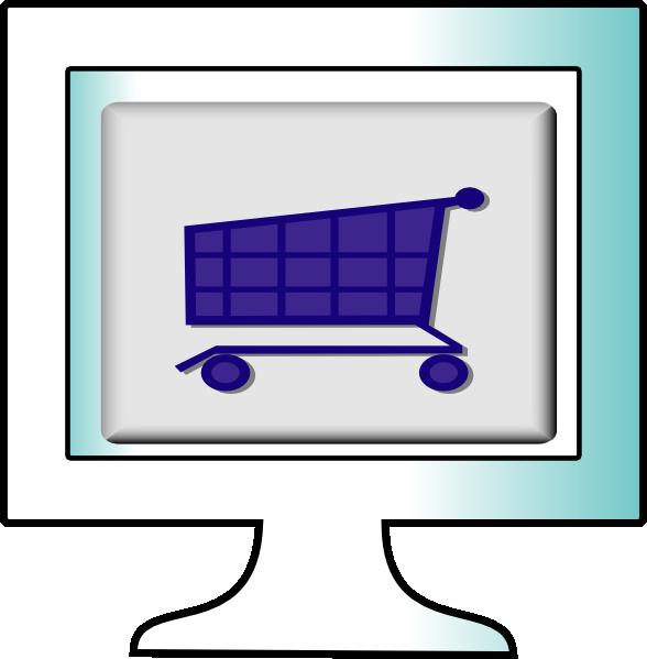 588x599 Online Shopping Clip Art