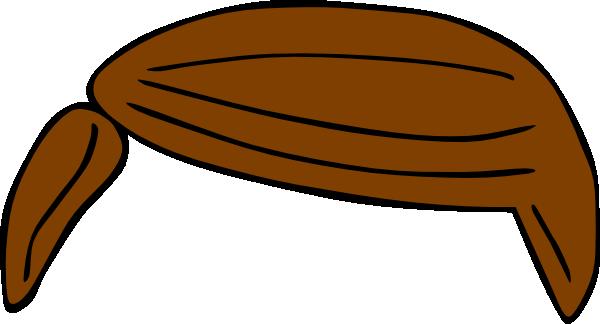 600x324 Plain Brown Hair Clip Art