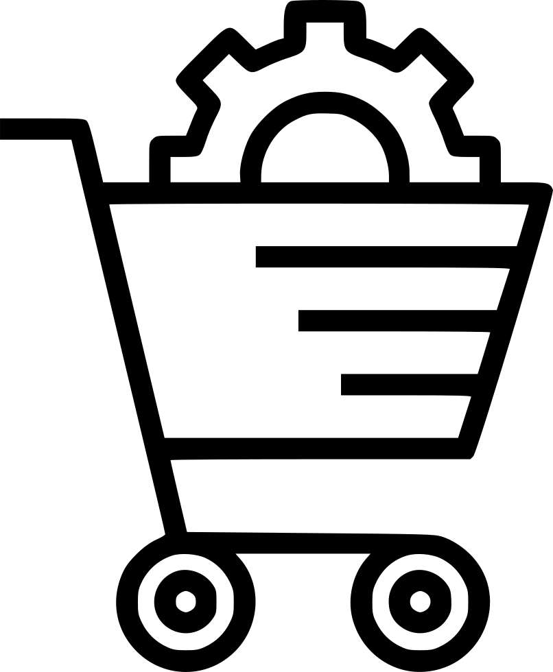 806x980 E Commerce Services Solution Cart Online Shopping Settings Svg Png