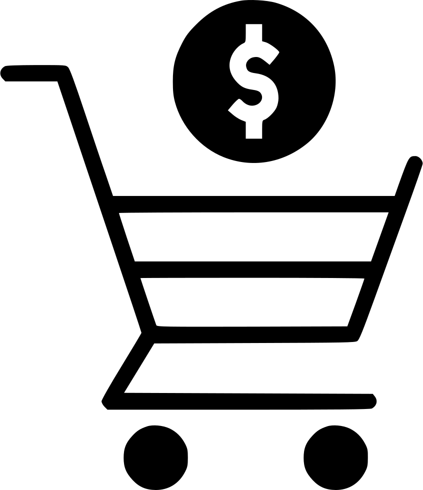 846x980 Online Shopping Cart Trolly Dollar Sign Currency Payment Svg Png