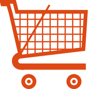 297x299 Orange Shopping Cart Clip Art