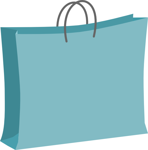 588x596 Shopping Bag Clipart