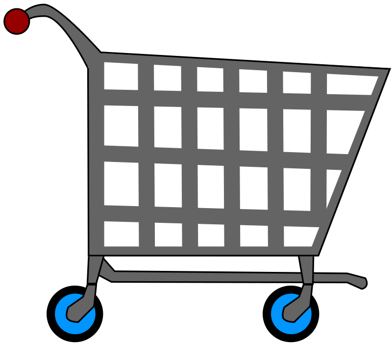 800x705 Shopping Cart Clipart