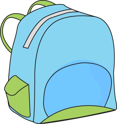 Open Backpack Clipart
