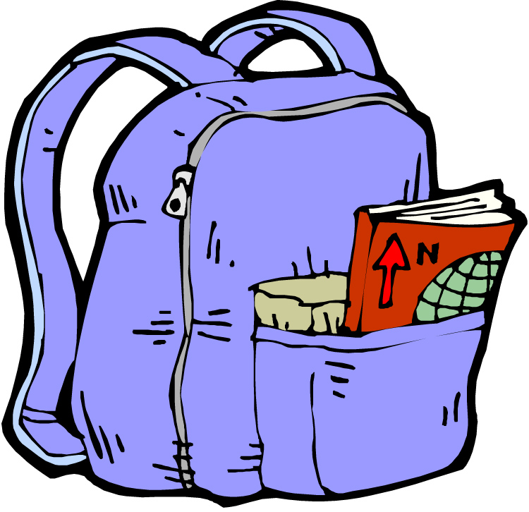 750x726 Free Open Backpack Clipart Image