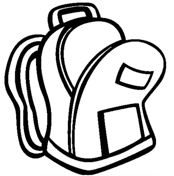 600x608 Free Open Backpack Clipart Image