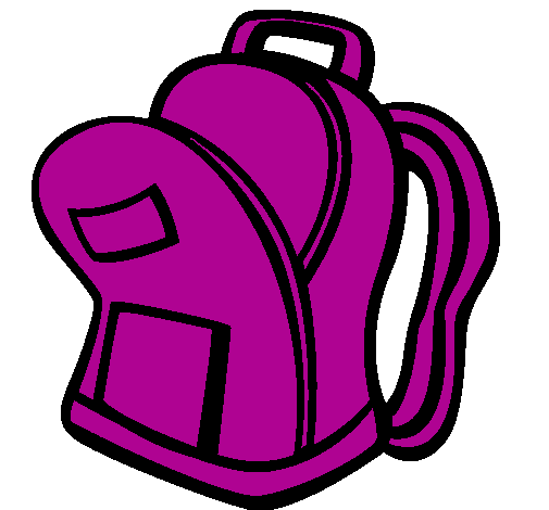 505x470 Free Open Backpack Clipart Image