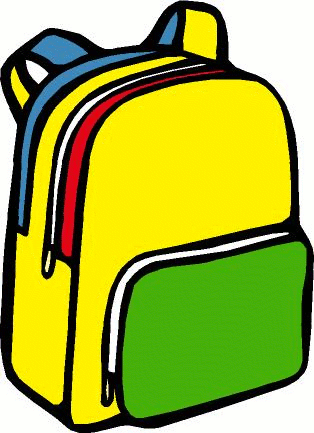 314x433 Open Backpack Clipart 1866419