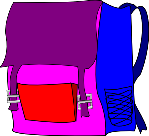 300x273 Backpack Clip Art