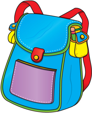 319x394 Open Backpack Clipart