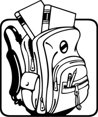 200x238 Open Backpack Clipart