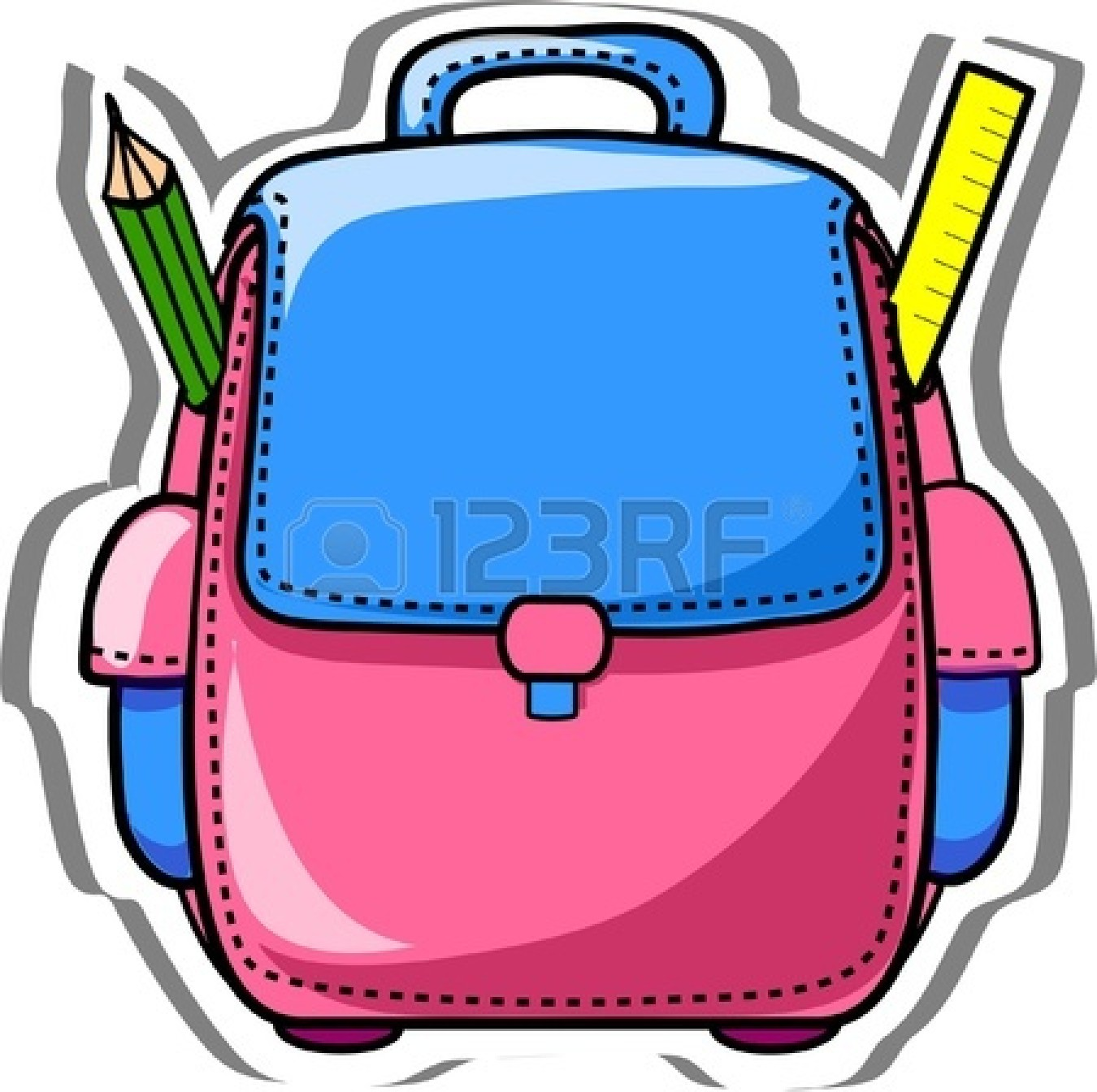 1350x1344 Open Backpack School Clipart