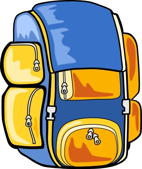 498x595 Backpack Clip Art Free Vector In Open Office Drawing Svg ( Svg