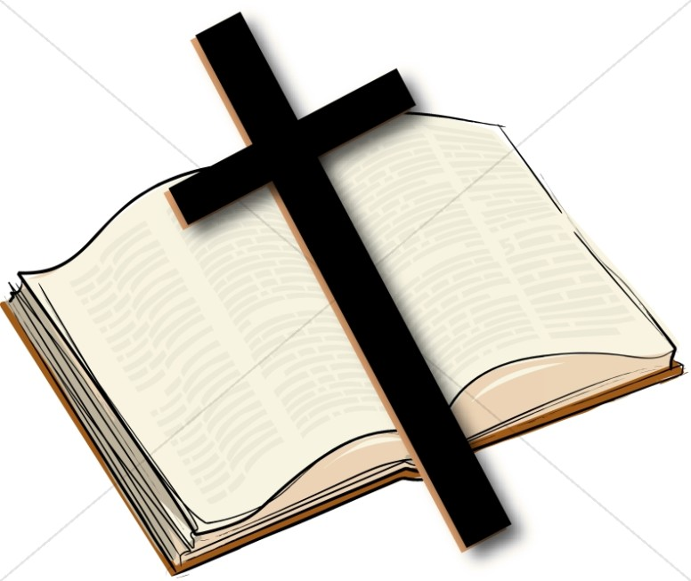 776x653 Open Bible With A Cross Bible Clipart