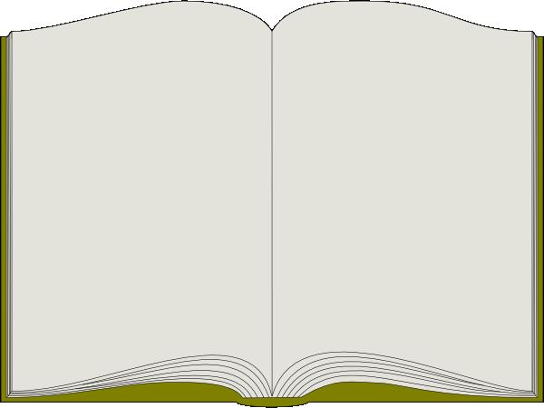 600x450 Open Book Clip Art