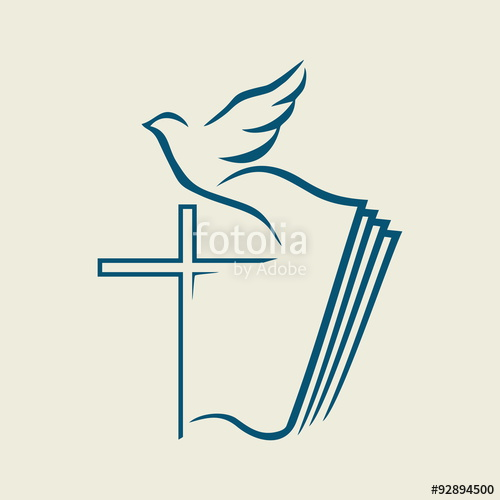 500x500 Dove, Cross, Open Bible, Icon Stock Image And Royalty Free Vector