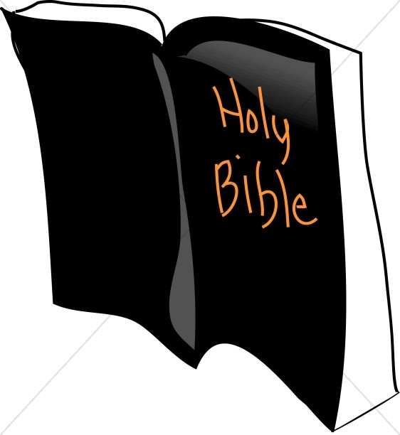 562x612 Open Bible With Bookmark Bible Clipart