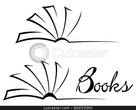450x364 Open Book Black And White Clipart
