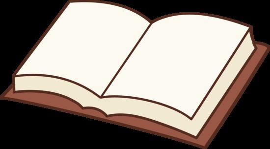 550x305 Open Book Clipart Design