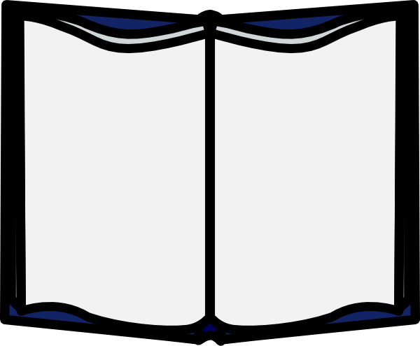600x495 Open Book Template Clipart