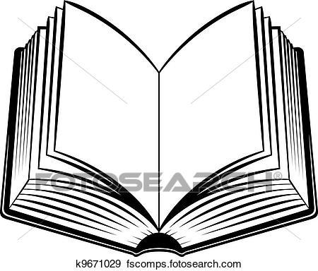 450x384 Clip Art Of Open Book K9671029