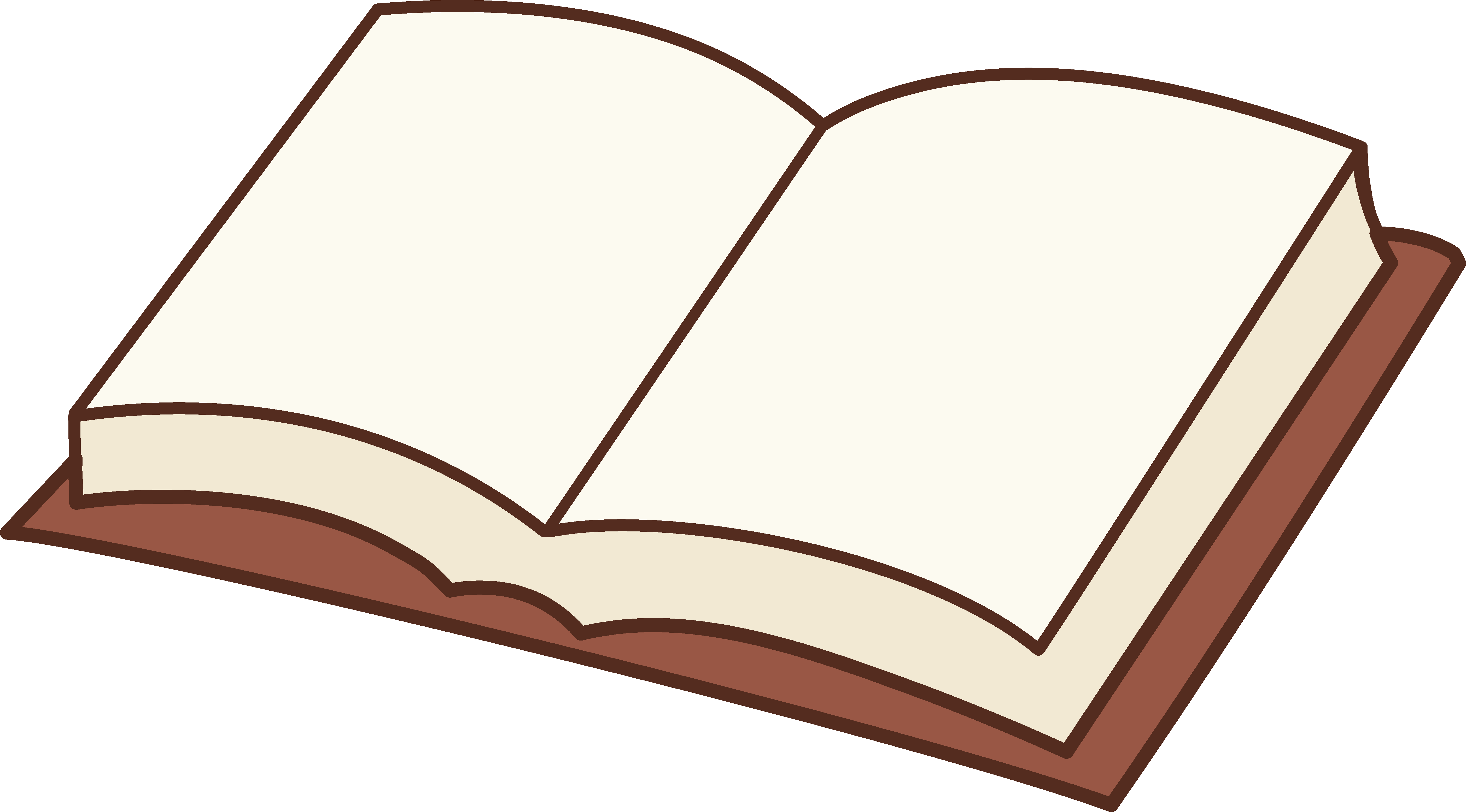 5613x3111 Open Book Clipart Design