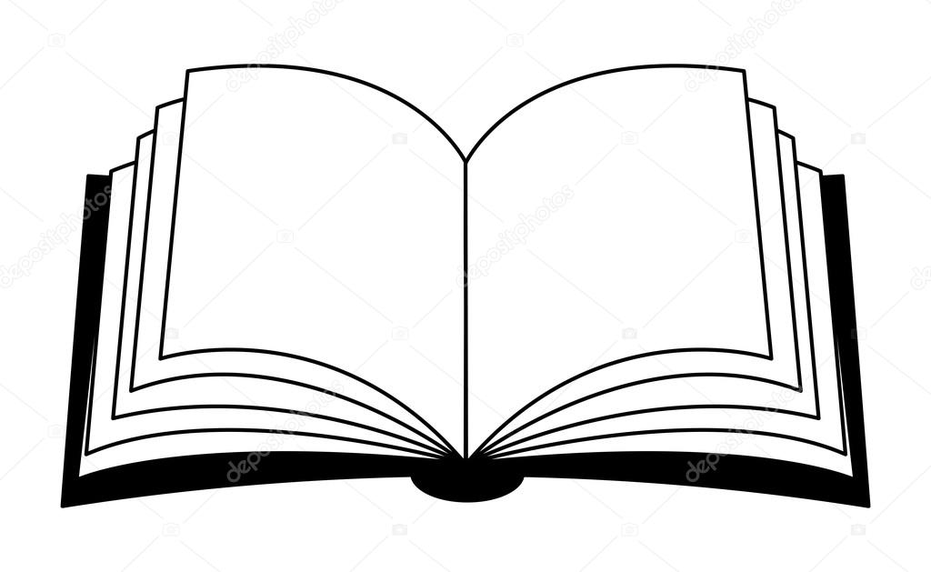 1024x629 Open Book Vector Clipart Silhouette, Symbol, Icon Design