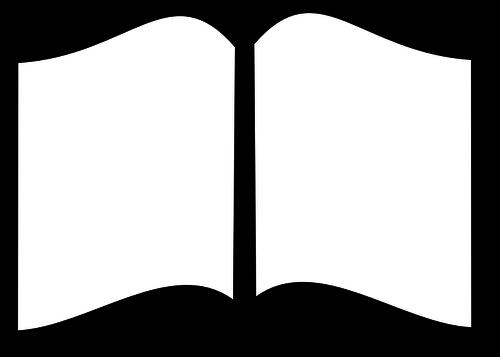 500x357 Black And White Open Book Vector Clip Art Public Domain Vectors