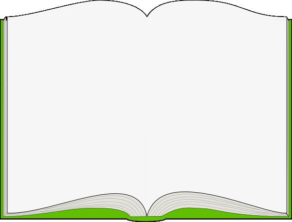 600x456 Green Open Book Clip Art