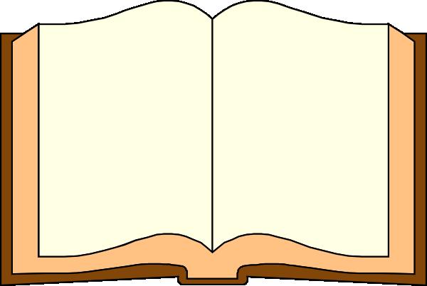 600x403 Open Book Clipart