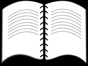 299x222 Open Book Symbol Clip Art