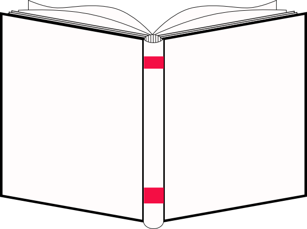 600x447 Openbook White Cover Clip Art