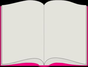 299x228 Pink Book Clip Art