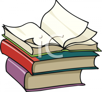 350x316 Stacked Books Clip Art Borders 3008 1911 Open Book On Top