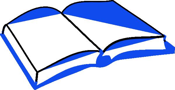 600x309 Blue Open Book Clip Art