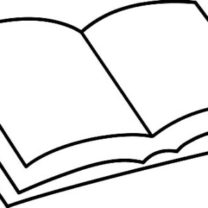 300x300 Book Coloring Page For Kids Coloring Sun