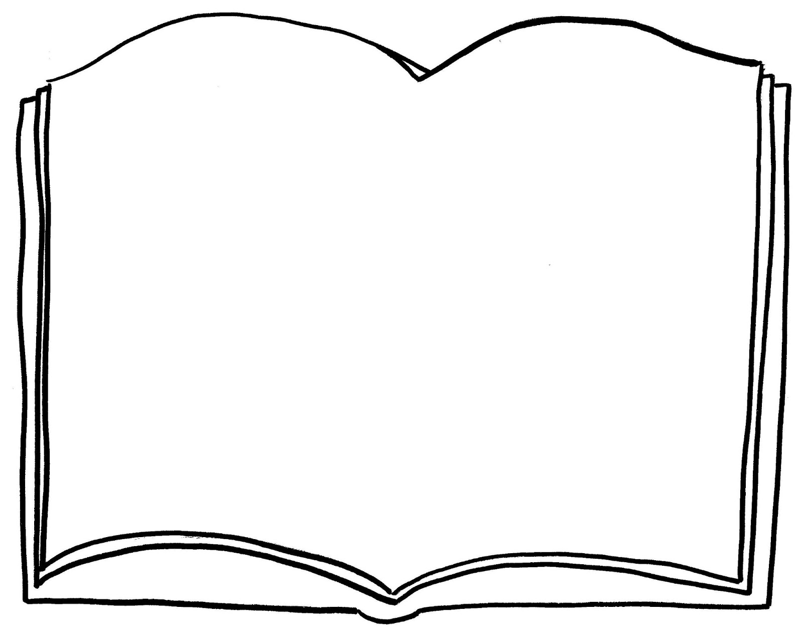 Open Book Coloring Page Free Download Best Open Book