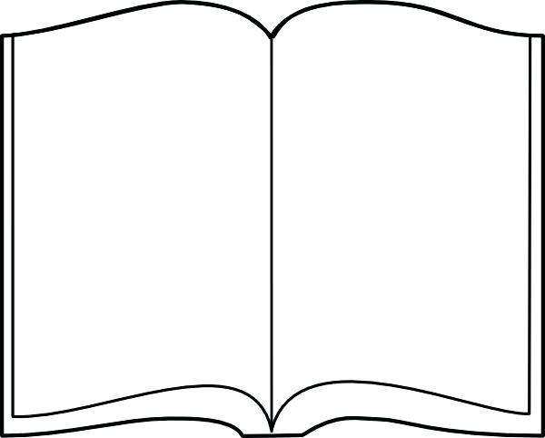 600x482 Open Book Coloring Page Open Book Outline Clip Art At Com Vector