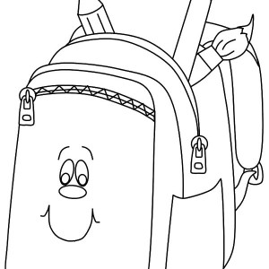300x300 An Open Backpack Coloring Pages Best Place To Color