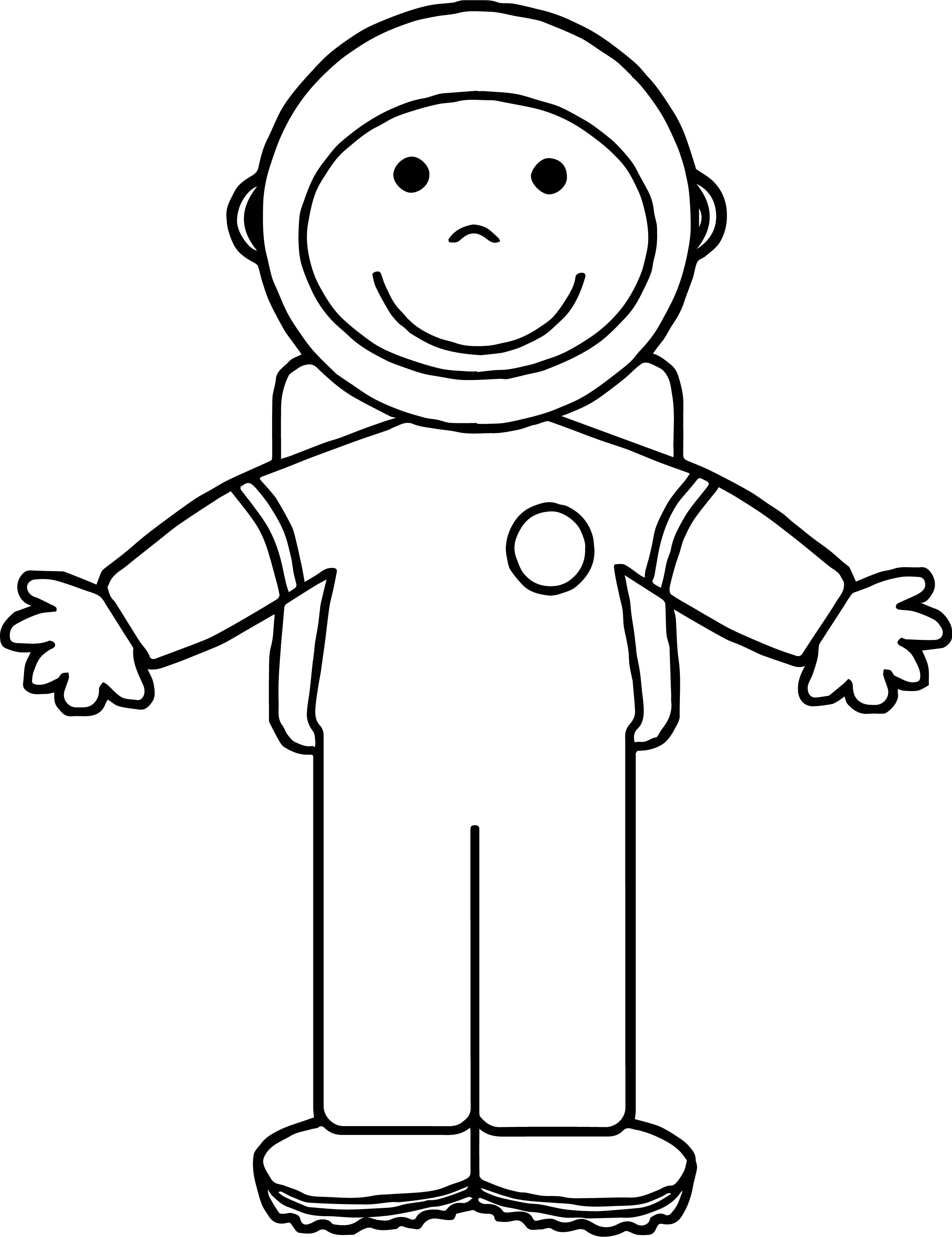 2421x3145 Astronaut Kid Open Hand Coloring Page Wecoloringpage