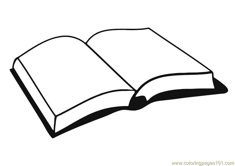 Open Book Coloring Pages | Free download best Open Book Coloring ...