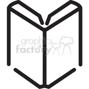 Open Book Line Art