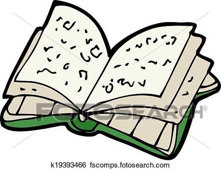 450x346 Clip Art Of Cartoon Open Book K19393466
