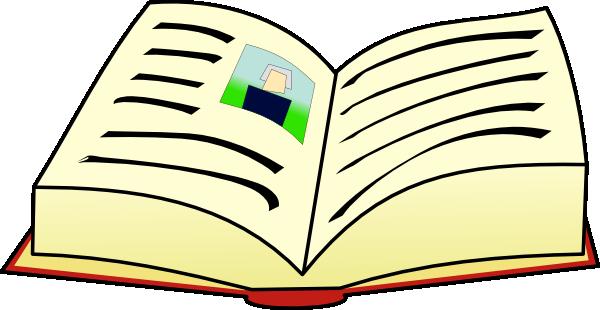 600x310 Open Book Clip Art