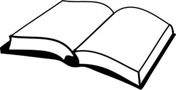 355x182 Open Book Clipart Black Collection