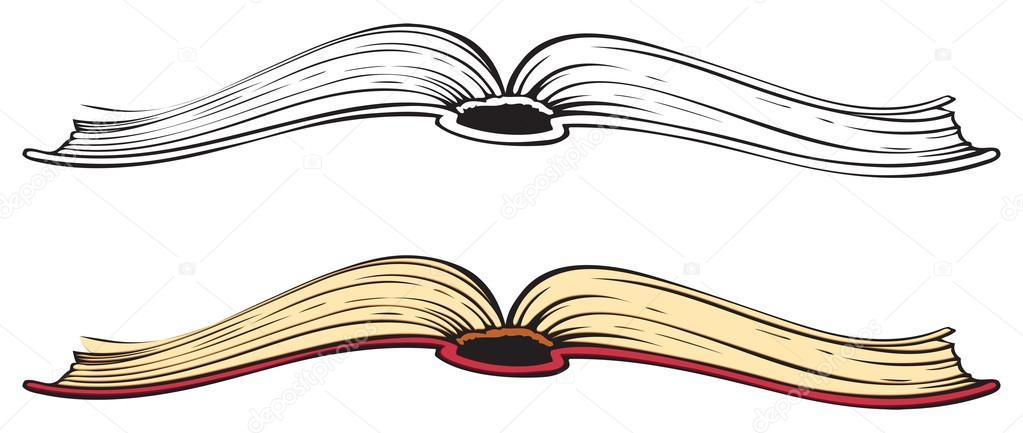 1023x433 Open Book. Vector Sketch Stock Vector Marinka