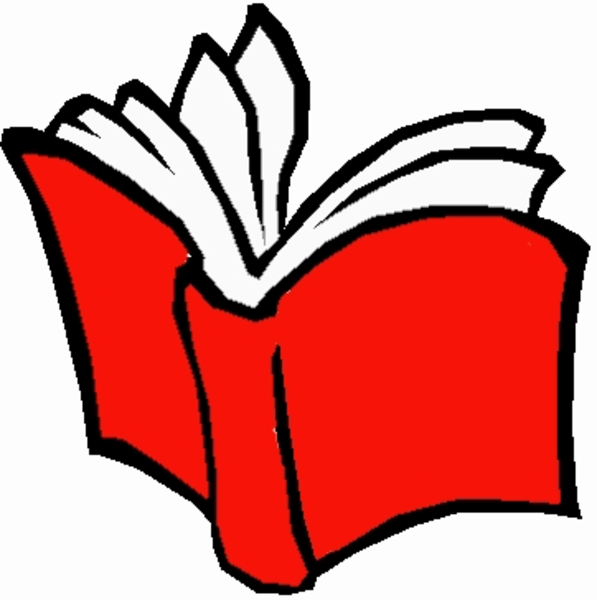 597x600 Red Clipart Open Book